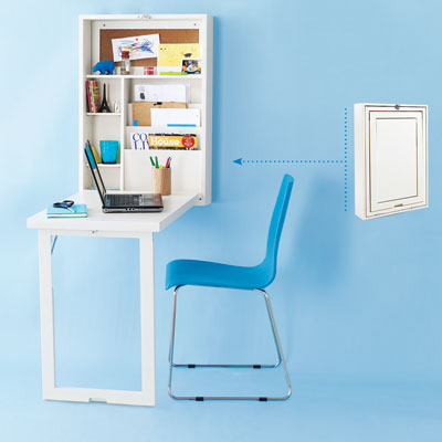 bookshelf fold-out desk – livesimplybyannie