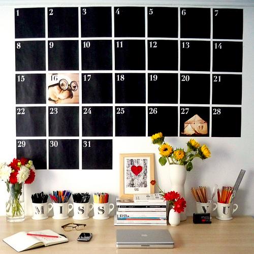 Diy Office Calendar : Mycal the wonders of a wall calendar live simply by annie