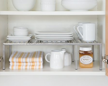 And ...  sc 1 st  livesimplybyannie - WordPress.com & Live Simply All-Star: Kitchen Cabinet Stacking Shelves ...