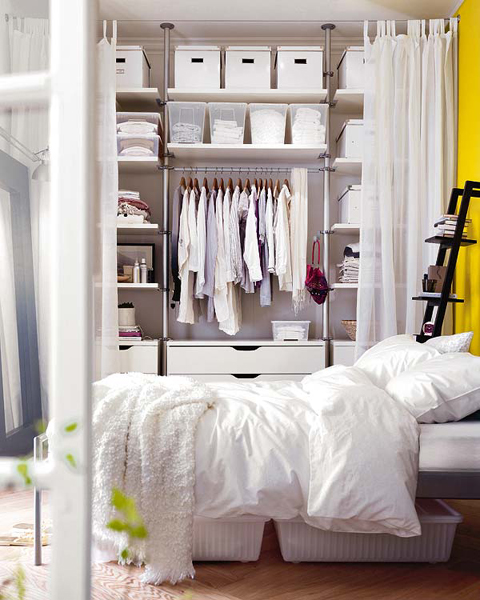 No Closet? No Worries; 4 Options for Faking It – Live Simply ...