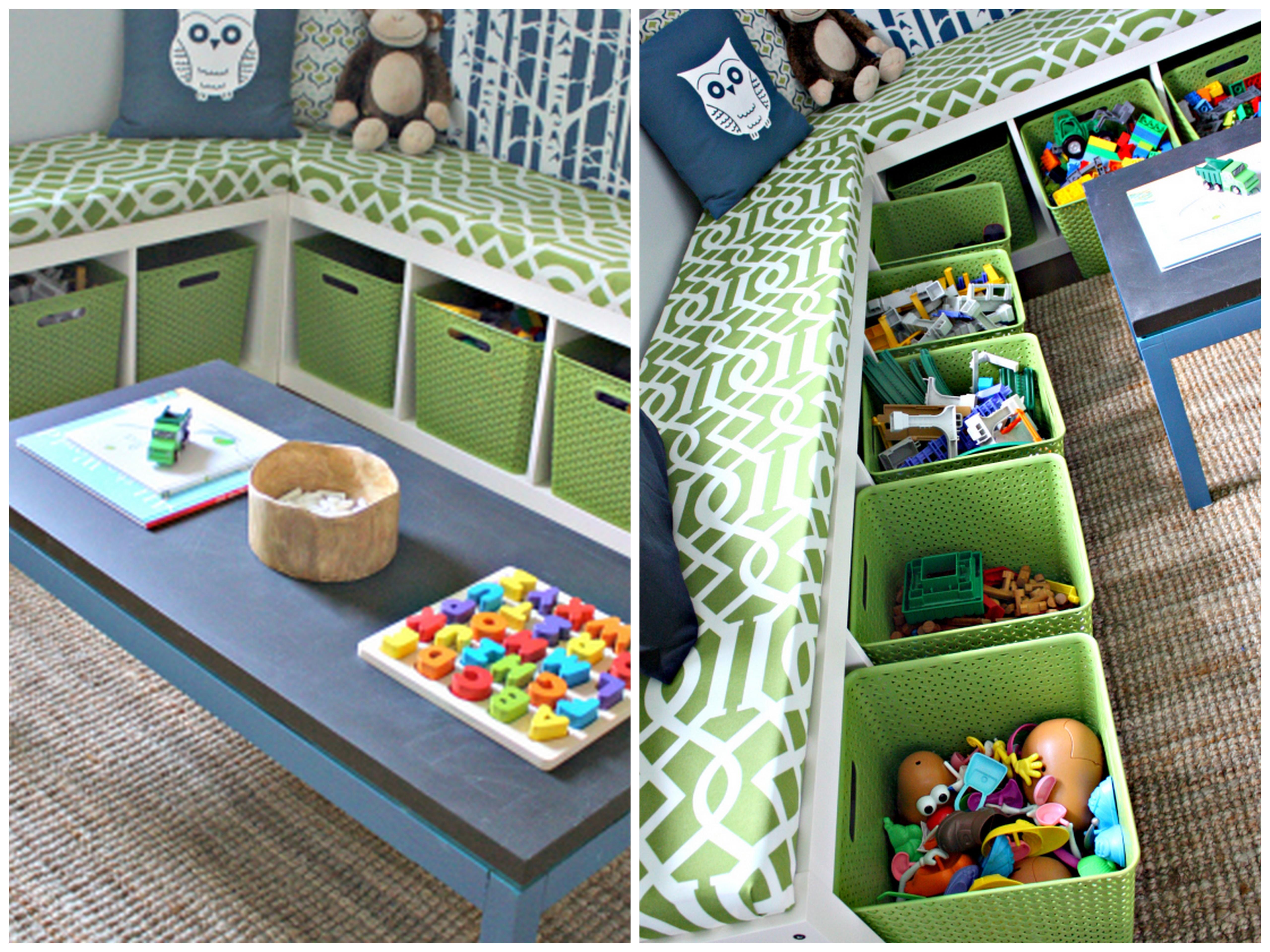 Toy storage bench seat plans