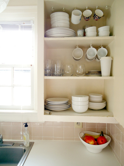 space saver in the kitchen hanging mugs livesimplybyannie. Black Bedroom Furniture Sets. Home Design Ideas